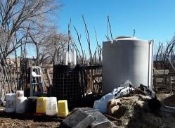 Bioreactor left of water tank